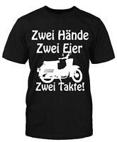 Hände Eier Schwalbe T-Shirt Fun Moped DDR Sprüche Ossi Simson Suhl Trabbi Herren