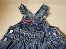 Vintage Baby Guess USA Girls Toddler Bib Overalls Blue Denim Size 18M Months