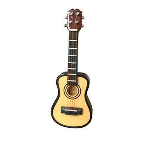 Dollhouse Musical Instrument Ukulele 1:12 Miniature Guitar Decor Accessories