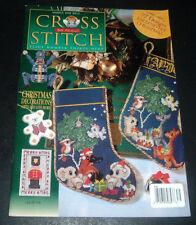 JILL OXTON'S CROSS STITCH UK MAGAZINE ~ #39 ~ CHRISTMAS 1999 ~ ANGELS ~PUPPETS+