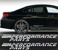 2 Pegatinas sticker BMW M Performance parts 40cm letras cromadas