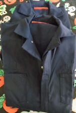 2 mens unisex coveralls NEW navy blue one piece zipper front sz 44 Cotton Blend
