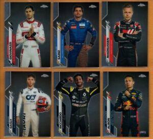 2020 Topps Chrome Formula 1 Racing F1 Racers Lot 6    Alexander Albon RC