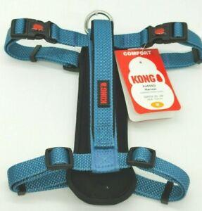 "KONG Comfort Padded Dog Harness 20"" - 29"" girth Medium M BLUE BRAND NEW NWT"