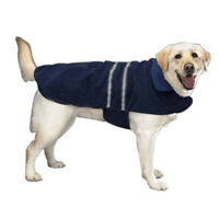 Reflective Dog Jacket Navy Blue Fleece Lined Casual Canine Choose Your Size!