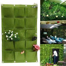 15 Pocket Vertical Planter Bag Pot Herbs Garden Wall Hanging Indoor Outdoor