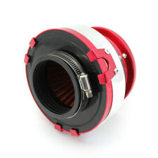 Universal 3Inch High-flow Aluminum Turbo Cold Air Intake Filter Red & Clamps
