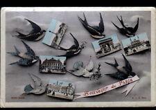 PARIS / Souvenir avec HIRONDELLES du 9 Décembre 1945