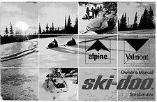 Ski-Doo owners manual book  1971 Alpine & Valmont
