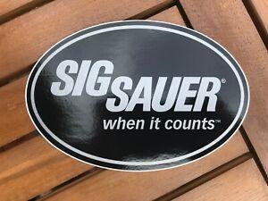Original Sig Sauer Sticker and Pin Badge Set