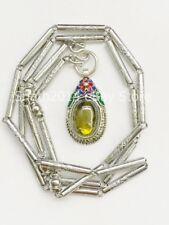 Super Powerful Green Naga Eye Stone Pendant with Stainless Necklace Magic Amulet