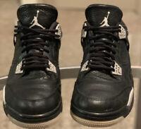 Men's Nike Air Jordan 4 IV Retro LS Oreo Black Gray 2015 Size 13 314254-003