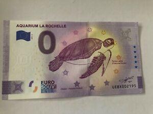 BILLET TOURISTIQUE 0 EURO ZÉRO EURO AQUARIUM LA ROCHELLE