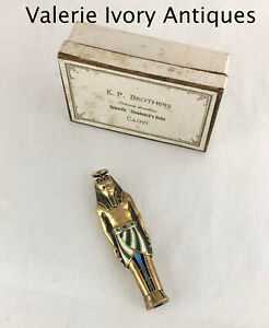 Figural Gilded Silver Enamel King Tut Tomb Mummy Mechanical Propelling Pencil
