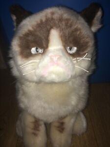 "2 GUND Grumpy Cat 9"" Plush Stuffed Animal and smaller Grumpy Cat, Good Con."