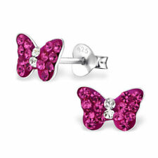Butterfly Cubic Zirconia Animals & Insects Fine Earrings