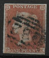 SG8. 1d.Red-Brown. Fine Used & In V.Good Condition. Just 4 Margins. Ref.07181