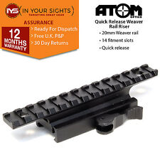 Quick release weaver rail riser mount /135mm rifle scope mount, riser rail