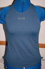 NEW Sz M USA Pro green Ruched sides Sports Lux Top