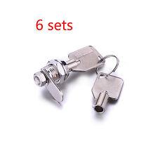 "6X Tubular Cam Lock with 5/8"" Cylinder 2 Keys Alike Pull Drawer Cabinet Toolbox"