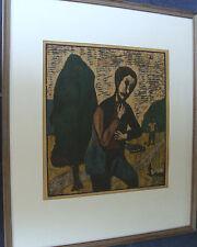 Seppo Mattinen *1930, Der Mörder, Farbholzschnitt, Künstlerabzug Nr 7, dat 1961