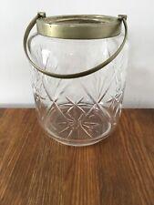 Vintage Glass Silver Plated Biscuit Barrel Cracker Sweetie Storage Jar