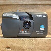 OLYMPUS AF-1 Mini Boxed 35mm Film Camera W/ 35mm F3.5 Lens Near Mint! Lomo Retro