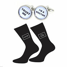 me Doctor Socks Gift Set X2Bocb003-X6S038 Trust me Doctor Cufflinks & Trust