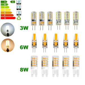 G4 LED Bulb 12V 5X 10X 3W 6W G9 8W 220V SMD Capsule light replace halogen lamp