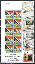 Gibraltar 2000 909-913 EK Voetbal EC Soccer 5 vellen