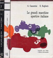 LE GRANDI MACCHINE SPORTIVE ITALIANE CANESTRINI ROGLIATTI 2 VOLUMI+COF. (JA262)