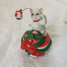 Vintage San Francisco Music Box Company Christmas Cat Kitten Toyland 1994