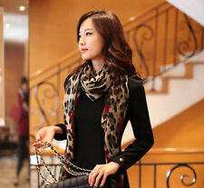Fashion Silk Scarf Cashmere Chiffon Scarf Animal Print Super Star Style Leopard