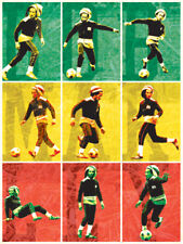 Bob Marley - Football - Prêt Encadré Toile
