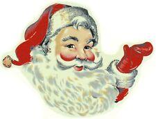 Ceramic Decals Vintage Design Santa Claus Waving Christmas Holiday 5.5in Lot/2