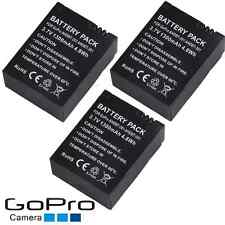 1250mAh!3x for Decoded Gopro Black 3 White HERO Silver AHDBT-201 301 Battery I