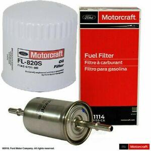New OEM Ford Motorcraft Fuel Filter FG-1114 and OIL FILTER FL820S