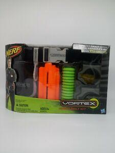 Nerf Vortex Ammo Belt Kit with 15 Discs and 10 Disc Magazine Green Light Orange