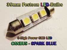 39mm Festoon C5W Blue SMD LED Canbus ECU Error Free Benz BMW Audi VW