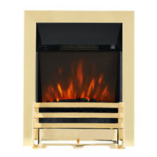 ELECTRIC INSET FIRE MODERN LED FLAME REMOTE 2KW COALS FIREPLACE COLOUR CHOICE
