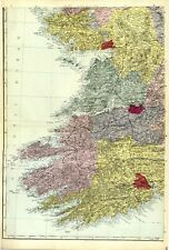 Map Of Ireland Castles.Cork Ireland Clare Antique Europe Maps Atlases For Sale Ebay