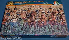 ITALERI 6094 - BRITISH LIGHT CAVALRY 1815. 1:72 SCALE UNPAINTED PLASTIC FIGURES.