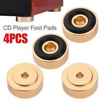 4Pcs Aluminum Isolation CD Player Feet Pad Turntable Radio Amplifier Base Mat