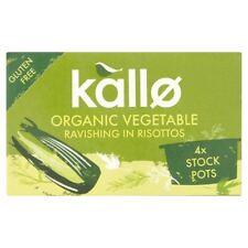 Kallo Organic Vegetable Stock Pots - Gluten Free 4x96g