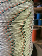 """3/8"""" x 600 ft. Double Braid-Yacht Braid Polyester Rope. US Made"""