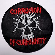 corrosion of conformity round   EMBROIDERED  PATCH