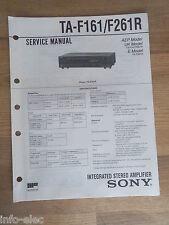 Schema SONY - Service Manual Integrated Stereo Amplifier TA-F161 TA-F261R