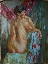 Russian Ukrainian Oil Painting Impressionism female figure woman nude portrait
