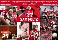 NEBRASKA HONORS FALLEN PUNTER SAM FOLTZ COMMEMORATIVE POSTER