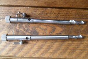 "2 x 9"" Stainless Steel Heavy Duty Bankstick Spiral Point Rod Rest Carp Fishing"
